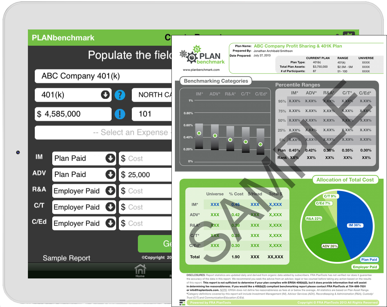 Plan Benchmark Dashboard